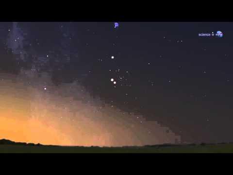 Bright Lights in Summer Sky: Venus and Jupiter Sky Show   Video