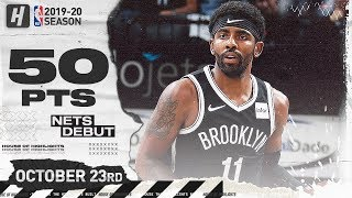Kyrie Irving AMAZING Brooklyn Nets Debut Full Highlights vs Timberwolves (2019.10.23) - 50 Points!