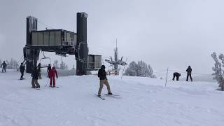 Top of Chair 25 at Mammoth Mountain