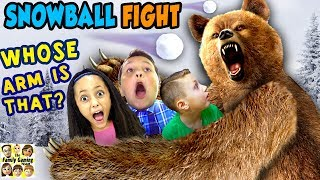 GRIZZLY BEAR ATTACK! 😱 FGTEEV Family Loses Arm? ☠ SNOWBALL FIGHT Gaming Battle Challenge ❄ KING ME!