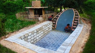 Build Underground Swimming Pool And Water Slide (part 1)