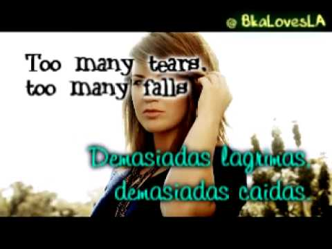 Breaking Your Own Heart Kelly Clarkson Lyrics Letra en Español =)