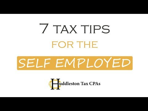 Redmond CPA: 7 Tax Tips For The Self Employed (Small Business Webcast)