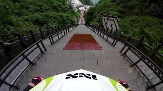 Craziest Stairs Downhill Ever! 999 Steps in 30 Seconds.