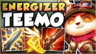 HOW BROKEN IS OVERHEAL ENERGIZER TEEMO?? ENERGIZER TEEMO SEASON 8 TOP GAMEPLAY! - League of Legends