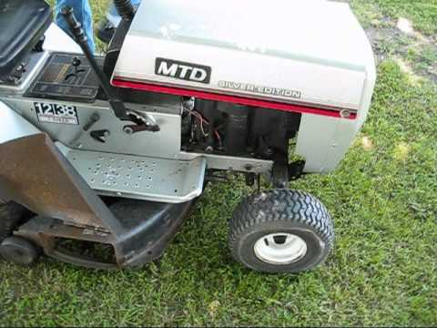 1987 Mtd Silver Edition Lawn Tractor Old Start Cold Start