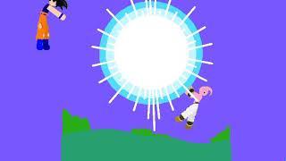 Goku spirit bomb vs kid buu preview