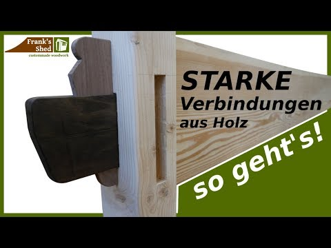 starke holzverbindungen ohne schrauben diy anleitung franks shed. Black Bedroom Furniture Sets. Home Design Ideas