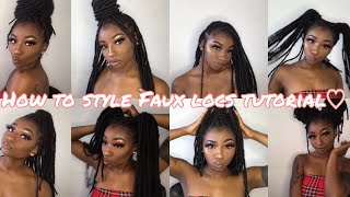 HOW TO STYLE FAUX LOCS | LOOK BOOK✨💖