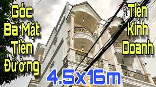 Bán nhà Gò Vấp | Siêu biệt thự mini phố góc ba mặt tiền đường tiện kinh doanh !