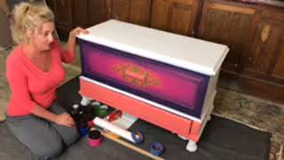 How to Add a Whimsical Harlequin Pattern to Furniture with Tracey Bellion