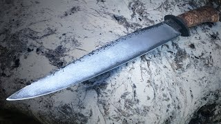 Forging A Hog Hunter Knife With Shot Shell