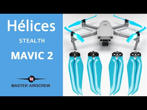 video Hélices Master Airscrew Stealth pour drone DJI MAVIC 2 (Pro / Zoom / Enterprise)