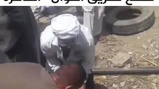 اسوان أهالي كوم امبو يقطعون طريق اسوان القاهرة الزراعي والسكه الحديد ...