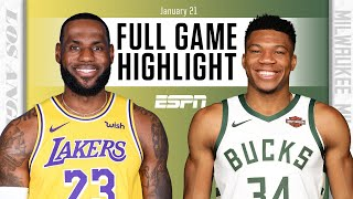 Los Angeles Lakers vs. Milwaukee Bucks [FULL GAME HIGHLIGHTS] | NBA on ESPN