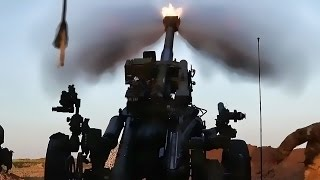 U.S. Army Artillery In Action Near Mosul • April 2017