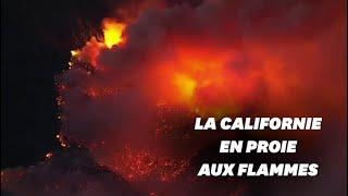 """Près de Los Angeles, l'""""Apple Fire"""" hors de contrôle, 8000 habitants évacués en urgence"""