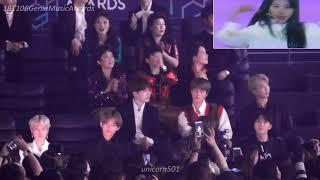 MGA2018 BTS reaction to Twice