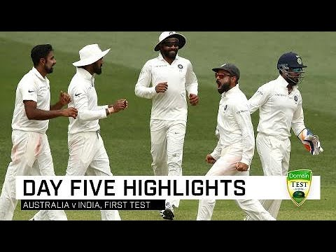 Aussies fight hard but India win gripping contest   First Domain Test