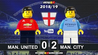 Manchester United vs Manchester City 0-2 • Derby 24/04/2019 • All Goals Highlights Lego Football