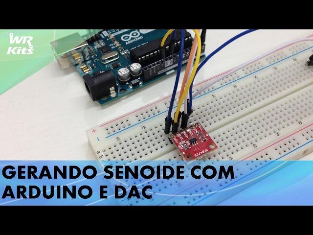 GERANDO SENOIDE COM ARDUINO E DAC MCP4725
