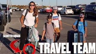 FLYING ACROSS THE COUNTRY WITH FOUR KIDS AND ONE BUSTED ANKLE