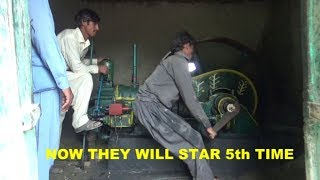 Old Diesel Engine best Sound  Start up Village life Rural area in Punjab