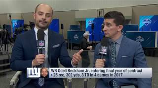 Odell Beckham Jr. wants his new contract to be in $20M range | Feb 28, 2018
