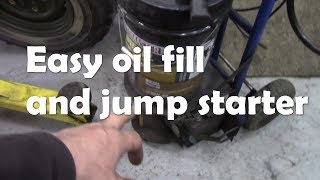 My oil filling equiptment  - making life easy on Land Rovers!