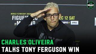 Charles Oliveira on Tony Ferguson win; Wants to fight Conor McGregor vs. Dustin Poirier winner