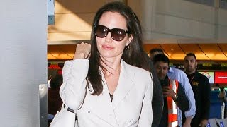 Angelina Jolie And Her Kids Jet Out Of Town