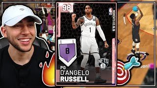 *NEW* PINK DIAMOND D'ANGELO RUSSELL GAMEPLAY! BEAST ON OFFENSE + DEFENSE! NBA 2K19 MyTeam