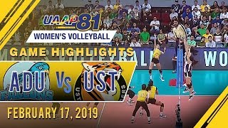 UAAP 81 WV: AdU vs. UST | Game Highlights | February 17, 2019