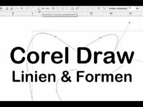 corel draw anleitung linien und formen zeichnen deutsch youtube. Black Bedroom Furniture Sets. Home Design Ideas
