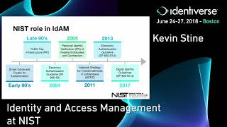 6/24 Identity and Access Management at NIST   Identiverse 2018