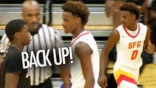 Bronny James GETS MAD @ D1 NYC Player! Dior Johnson Finishes LIKE A PRO