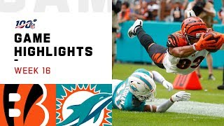 Bengals vs. Dolphins Week 16 Highlights | NFL 2019