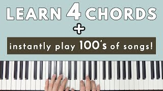 Learn 4 Chords & Instantly Be Able To Play Hundreds Of Songs!
