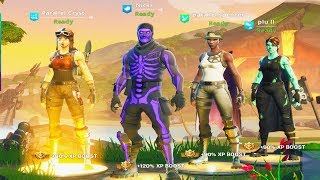 I joined THIS Fortnite Team.... they are TOXIC! (only rare skins ALLOWED!)