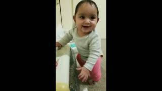 7 months old Navika is making funny sounds. #throwback