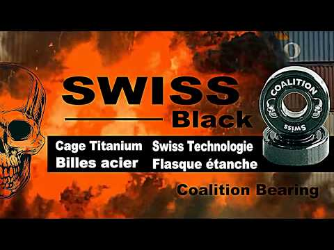 Video COALITION Roulements SWISS TITANIUM BLACK [x8]