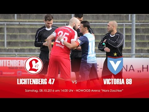 SV Lichtenberg 47 - FC Viktoria 1889 Berlin (2. Runde, Berliner Pokal der 1. Herren 2016/2017) - Spielszenen   SPREEKICK.TV