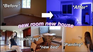moving day/painting and unpacking my room!