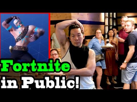 FORTNITE DANCES IN PUBLIC! (Season 5) IN REAL LIFE Challenge!!