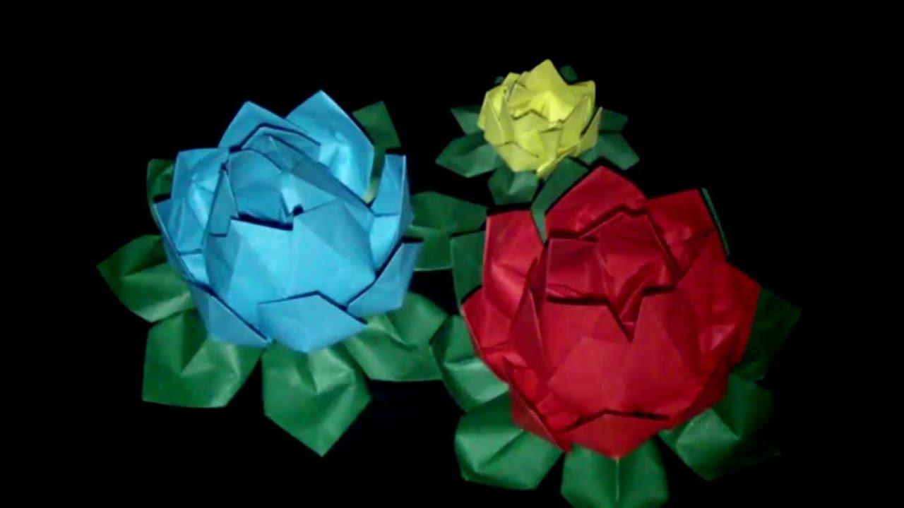 origami lotosblume faltanleitung hd deutsch youtube. Black Bedroom Furniture Sets. Home Design Ideas