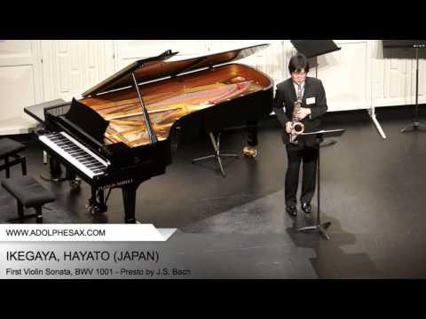 Dinant 2014 - Ikegaya, Hayato - First Violin Sonata, BWV 1001 - Presto by J.S. Bach