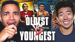 OLDEST VS YOUNGEST PLAYER DRAFT! INSANE GAME VS WALKER! Madden 19 Ultimate Team