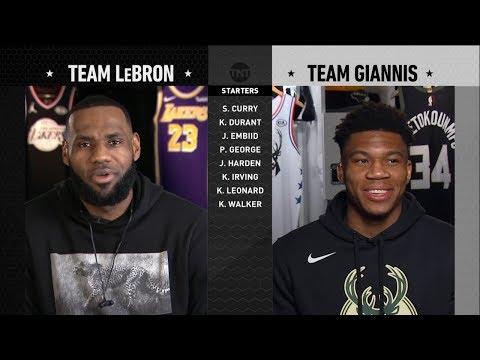 2019 NBA All-Star Draft - Team LeBron vs Team Giannis   2019 NBA All-Star Weekend