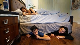We spent the night under my Girlfriends bed.. She had no idea..