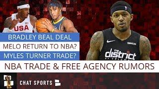 NBA Rumors On Bradley Beal's Future, Andre Iguodala, Andrew Wiggins Trade & Carmelo Anthony Return?